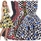 Rock & Roll 40's 1950s Vintage Retro Ladies Party Swing Prom Dresses