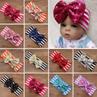 Lovely Baby Toddler Kids Girls Stripe Sequined Bow Headband Hair Band Head Wrap