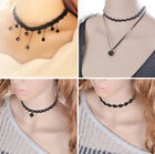 Sexy Fashion Charm Jewelry Chain Pendant Crystal Choker Lace Collar Bib Necklace