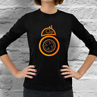 New Star Wars BB8 Droid Women Long Sleeve Dark Black T-Shirt Free Shipping