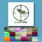 Game Over Moose Hunting - Decal Sticker - Multiple Patterns & Sizes - ebn335