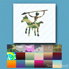 Cave Painting Spear Hunter - Vinyl Decal - Multiple Patterns & Sizes - ebn1009