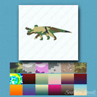 Triceratops Three Horn Dinosaur - Decal - Multiple Patterns & Sizes - ebn1024
