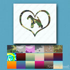 Heart Wire Fox Terrier Dog Love - Decal - Multiple Patterns & Sizes - ebn1531