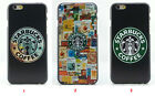For iPhone4S 5S 6 6plus Starbucks Coffee Patter Cover Case Skin