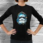New Star Wars Stormtrooper Empire Geek Women Long Sleeve Dark Black T-Shirt