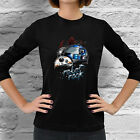 New Star Wars R2-D2 BB8 Droid robot geek Women Dark Black Long Sleeve T-Shirt