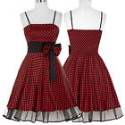 Short / Mini Prom Evening Party Dresses Homecoming Black + Red Vintage Ball Gown
