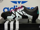 NEW ADIDAS X 15.1 Leather FG/AG Men's Soccer Cleats - BlackWhite;  AF4729