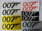 "007 James Bond Gun 4x1.5 / 3x1"" Vinyl decal weather proof 2 stickers many colors $5.99 USD on eBay"