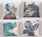 Chinese Style Cotton Colorful Peacock Home Pillow Case Cushion Cover 18''