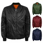 MENS MA1 ARMY PILOT FLY MILITARY SECURTY BOMBER DOORMAN HARRINGTON BIKER JACKET