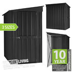 NEW 6x4 8x4 8x5 FT METAL PENT LEAN-TO GARDEN STEEL SHED TIN **INC ANCHOR KIT**