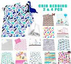 Baby Crib Bedding set optional 2/4pc pillow & duvet cover/ Quilt 70 x 80 cotton