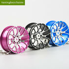 Big  Style Wheel Rim Aluminum Keychain Keyring Rear View Pendent JDM