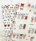 Vanilla animals 100% Cotton Fabric rabbits cats dogs Children Quilting JC2/60-