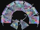"""100 50 4""""x6"""" White Coralline Organza Jewelry Pouch Wedding Party Favor Gift Bag"""