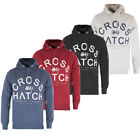 Crosshatch Puff Print Pullover Fleece Hoodie  Mens Size