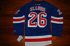 NEW 26 Martin St Louis New York Rangers On Field Reebok Jersey Large X Large