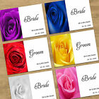 Wedding Table Name Place Cards - Personalised With Guests Names - Rose Design