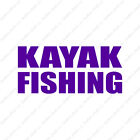 Kayak Fishing - Vinyl Decal Sticker - Multiple Color & Sizes - ebn1679