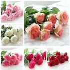10 / 20 Heads Real Touch Latex Rose Flowers Wedding Bouquet Home Party Decor