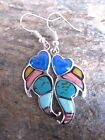 Stone Mosaic Inlay Earrings Women Artisans Hand Crafted Fair Trade NEW me102