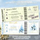 Mickey and Minnie Mouse Disney Wedding Birthday Ticket Invitations Party Invite