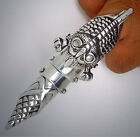 Armadillo Texan Full finger armor Gothic SteamPunk Punk Rock Biker Pewter Ring