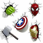 MARVEL AVENGERS WALL LIGHT HULK IRON MAN CAPTAIN AMERICA THOR OR SPIDERMAN