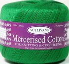 4ply 100% Mercerised Cotton - YOU CHOOSE THE COLOUR - YOU CHOOSE THE QUANTITY
