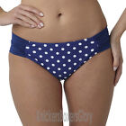 Panache Annalise Gathered Bikini Brief/Bottoms Cobalt/White SW0939 Select Size