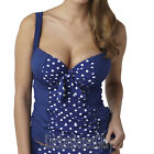Panache Swimwear Annalise Tankini Top Cobalt/White SW0931 NEW Select Size