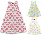 GIRLS DRESS SLEEVELESS COTTON EX STORE PRINTED DRESS 1-8 YEARS BNWT