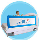 Kids Bed Rail Blue Pink Safety Bed Guard Protection Folding Down 150/180cm