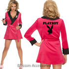 CL703 Pink Robe Playboy Bunny Girlfriend Hugh Hefner Hens Party Costume Outfit