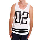 New Mens St Goliath Muscle Tank Casual Genuine Singlet streetwear White Stringer