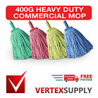 400G Commercial Mop Head Refill - Heavy Duty Red Yellow Green Blue Cleaning