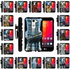 For LG Escape 2 | Clip + Holster + Case Combo Kickstand Famous Cities