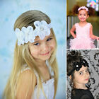 Baby Girls Toddlers Lace Diamente Flower Girl Hair band Headband Wedding Party