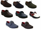 New Mens Gents casual lace up faux leather office work Boat Deck shoes Size 7-11