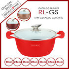 ROYALTY LINE CERAMIC COATING CASSEROLE WITH GLASS LID