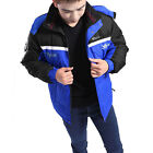 Men Long Sleeve Button Closure Zip Up Casual Warm Quilted Coat