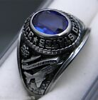 Ladies New Silver tone USAF Air Force signet ring size 6.5