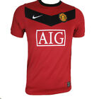 Manchester United Nike children's red home short sleeved football shirt 2009-10