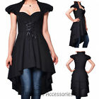RK110 Black Victorian Vintage Pin Up Gothic Rockabilly Top Blouse Retro 50s