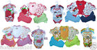 Baby Boys and Girls 5 Pack Short Sleeve Bodysuits 100% Cotton