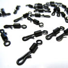 Matt Black Kwik / Quick Change Flexi Rolling Swivels Packed 10's 100's & 1000's