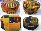 Внешний вид - Mens Kente Print Hat vintage Hippie Boho African Traditional Kufi Cap one Size