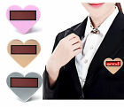 Heart-shaped LED Electronic Name Badge LED Display Sign Message Tag w/ CD Driver